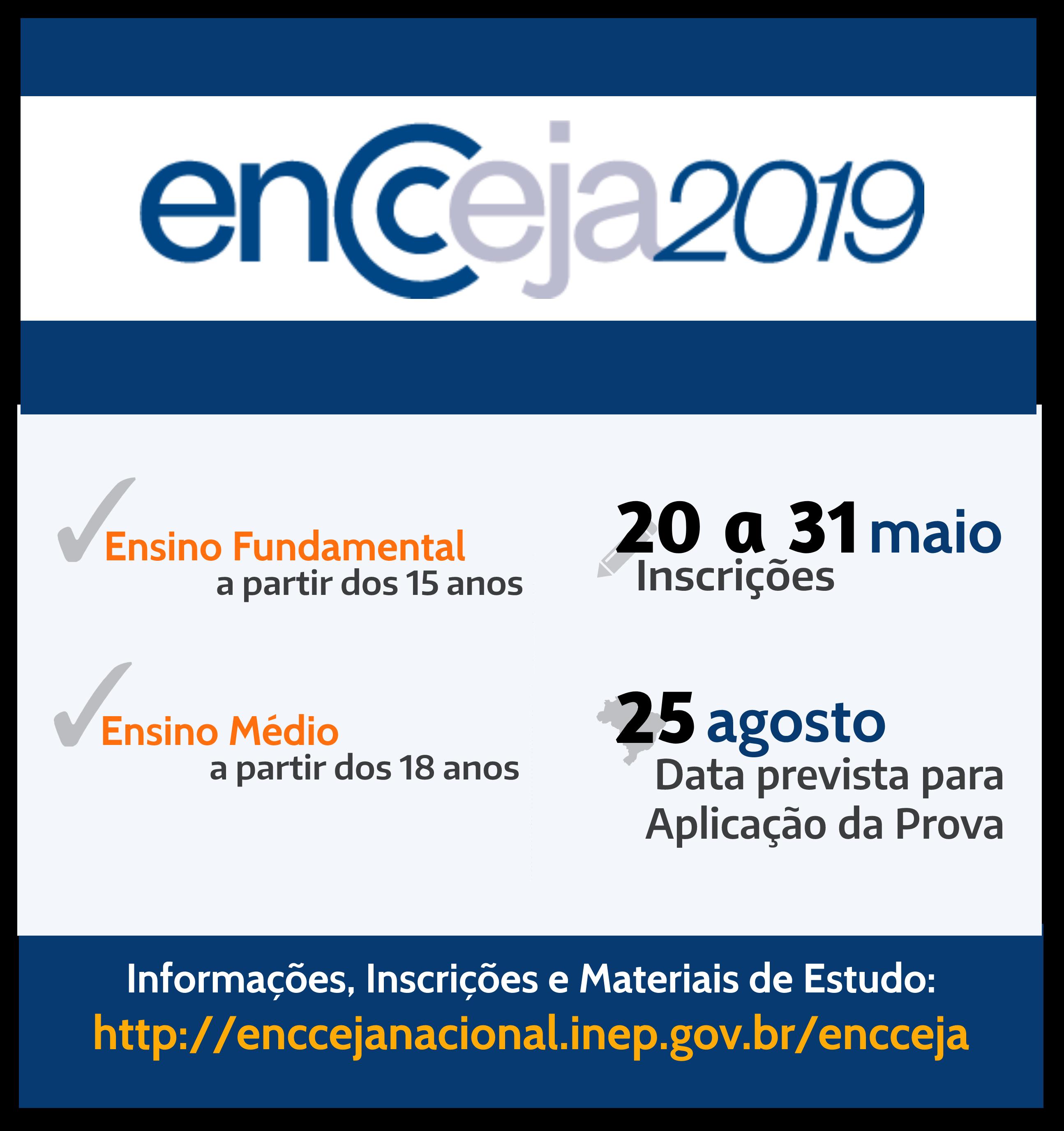 Encceja 2019 Informacoes Sobre Inscricoes Diretoria De Ensino Leste 3